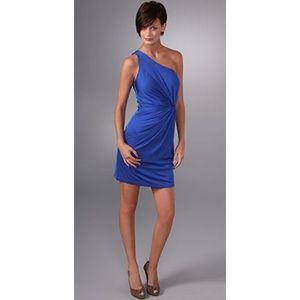 Laila Azhar Silk One Shoulder Twist Dress - Small